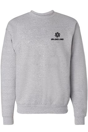 Upload Logo Gray Sweatshirt