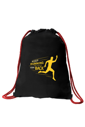 Customize Keep Going Black Gym Sack Bag