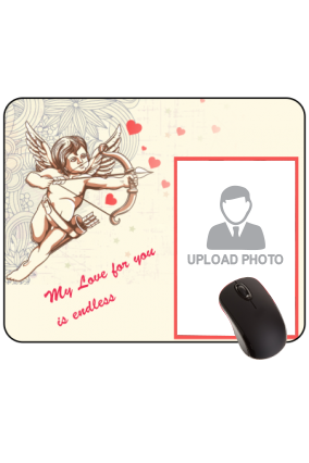 Cupid Strikes Valentine Day Rectangular Mouse Pad