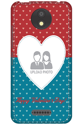 3D - Motorola Moto C Plus Colorful Heart Valentine's Day Mobile Cover