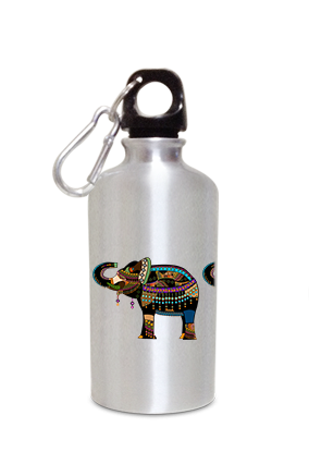 Elephant 400ml Silver Sipper