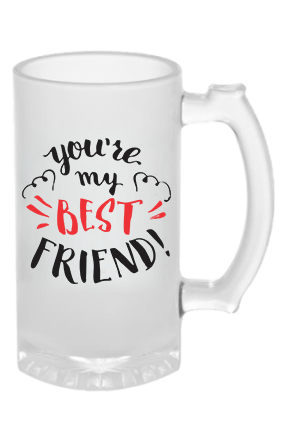 Best Friend Frosted Beer Mug