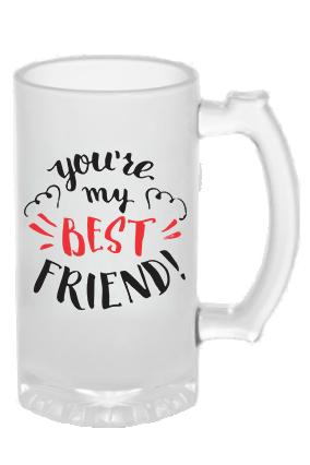 Best Friend Frosted Beer Mug