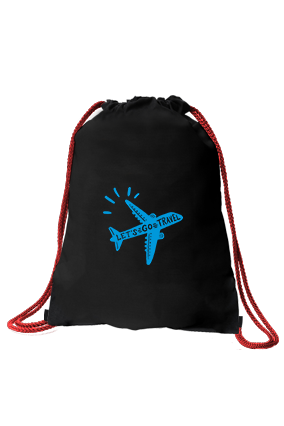 Fly High Black Gym Sack Bag