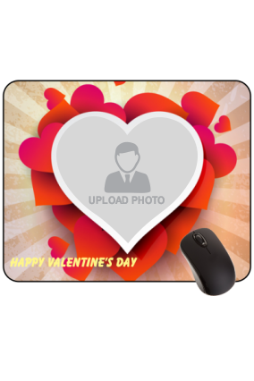Platter of Love Valentine Day Rectangular Mouse Pad