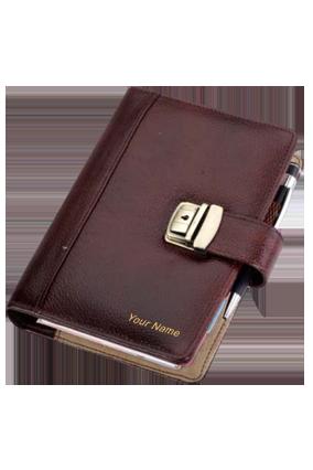 Business Organiser Leatherite NDM Brown GE-1074