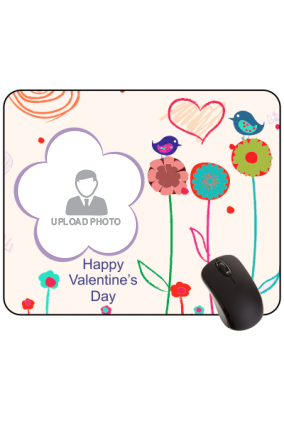 Floral Twist Valentine Day Rectangular Mouse Pad