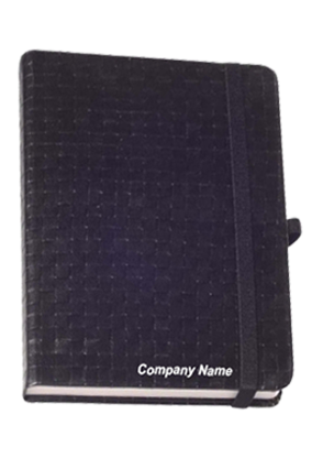 Hard Cover Premium Leatherite Black Notebook X307