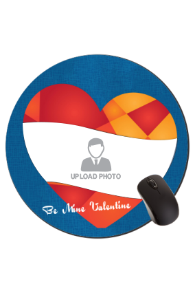 Heart Swipe Valentine Day Round Mouse Pad