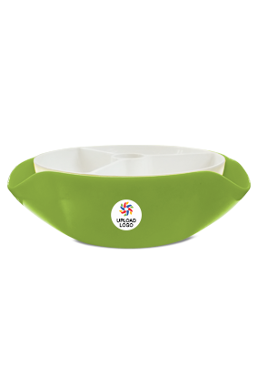 Upload Logo Trio Serving Bowl H79 Green