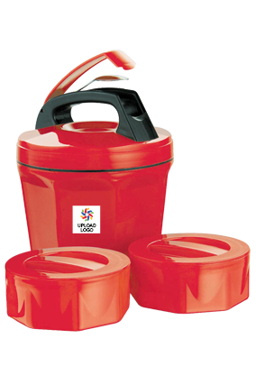 Upload Logo Octomeal Lunch Box H85 Red