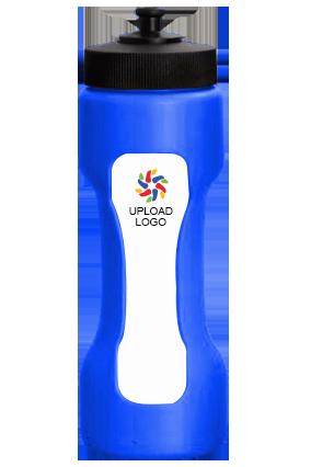 Upload Logo Dumble Shape Water Sipper H62 Blue