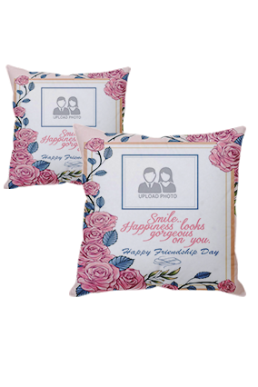 Smile Friendship Day Cushion Cover