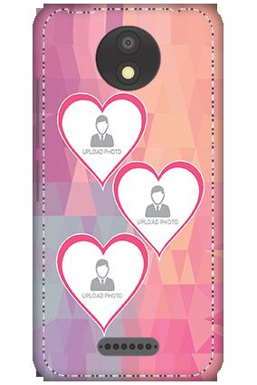 3D - Motorola Moto C Plus 3 Photos Heart Mobile Cover