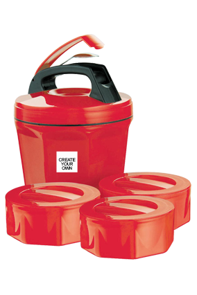 Design Your Own Octomeal Lunch Box H86 Red