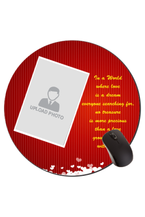 Love in The Air Valentine Day Round Mouse Pad
