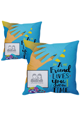 Evergreen Friendship Day Cushion Cover
