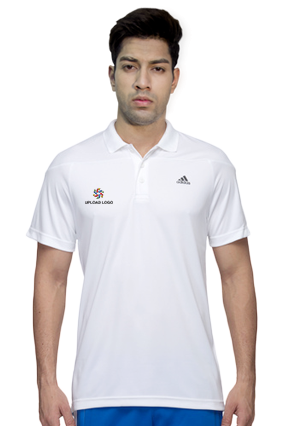 Promotional Adidas - Embroidery Polo White T-Shirt - AH9112