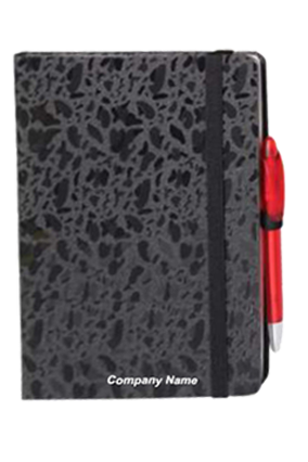 Hard Cover Premium Leatherite Black Notebook X309