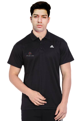 Adidas - Embroidery Polo Black Training T-Shirt - AH9110