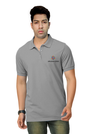 Umbro- Embroidery Polo Grey T-Shirt - 1000597291029