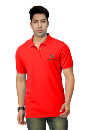 Umbro- Embroidery Polo Red T-Shirt - 1000558819012