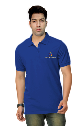 Customized Umbro- Embroidery Polo Royal Blue T-Shirt - 1000627400009