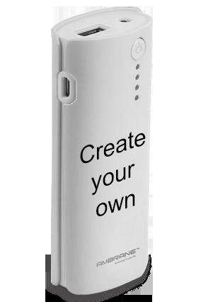 Create Your Own 5200mAh Ambrane Power Bank White