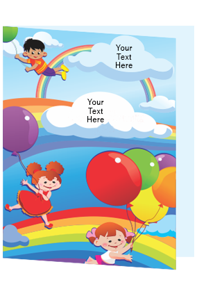 Customized Colorful Balloons Folder