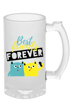 Best Friend Forever Frosted Beer Mug