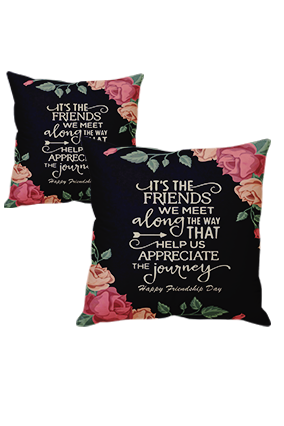 Bestie Friendship Day Cushion Cover