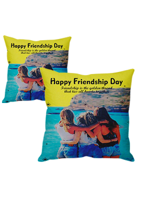 Forever Young Friendship Day Cushion Cover
