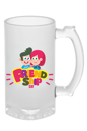 Happy Friendship Day Frosted Beer Mug