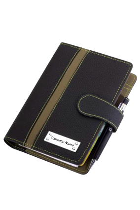 Business Organization Leatherette Black Green GE-1066