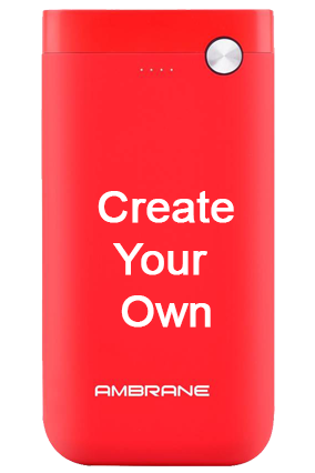 Design Your Own Ambrane Polymer PP-11 - 10000mAh Power Bank Red
