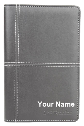 Printed Design Your Own Power Wallet Notebook 4000mAh Power Bank POR-838- Brown