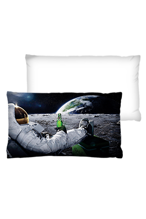 Moon Surface Rectangular White Cushion