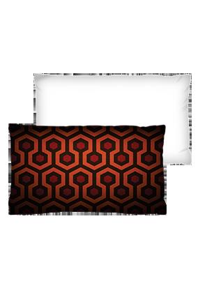 Bee Hive Pattern Rectangular White Cushion