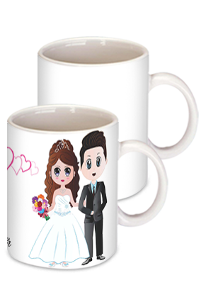 His & Her Cute Couple Coffee Mug