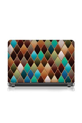 Cutomised Multi Colors Rhombus Themed Laptop Skin