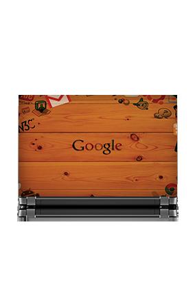 Google Wooden Themed Laptop Skin