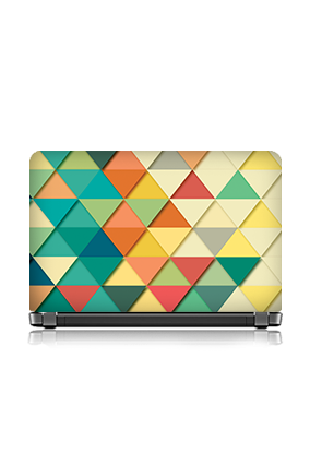 Bright Colors Triangle Laptop Skin