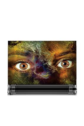 Cutomised Brown Eye Lady Laptop Skin