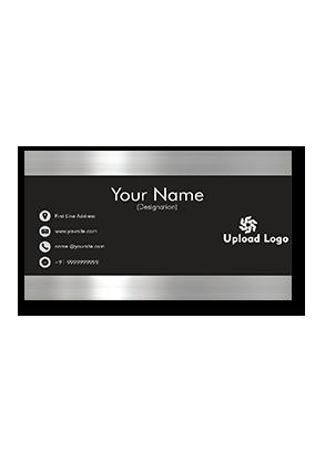 Designer Silver Shine Silver Business Card