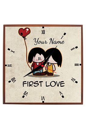 First Love Square Wall Clock