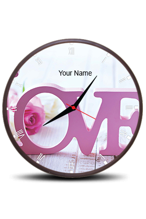 Customize My Love Wall Clock Circle With Boarder