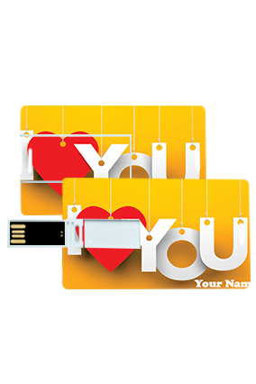 Love You Credit Card Pen Drives