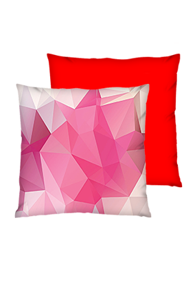 Abstract Pattern Polyester Square Red Cushion