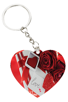 Gorgeous Rose Valentine's Day Heart Keychain