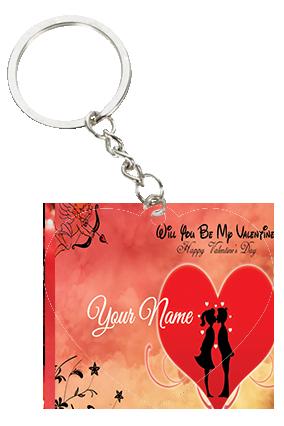 Be My Love Valentine's Day Heart Keychain